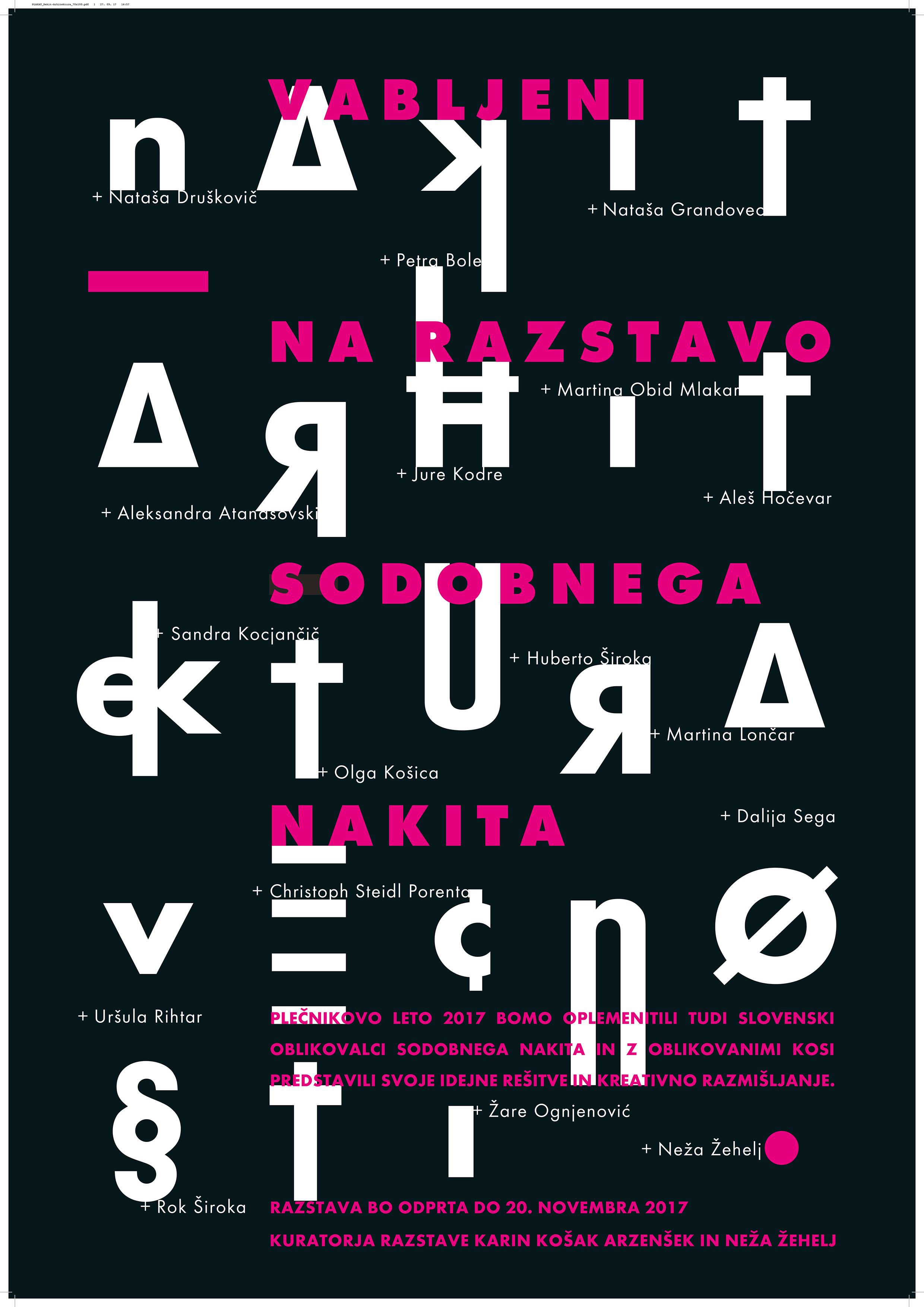 Infinitive architecture - jewellery - Feniks Gallery / Ljubljana / Slovenia12. October - 20. November