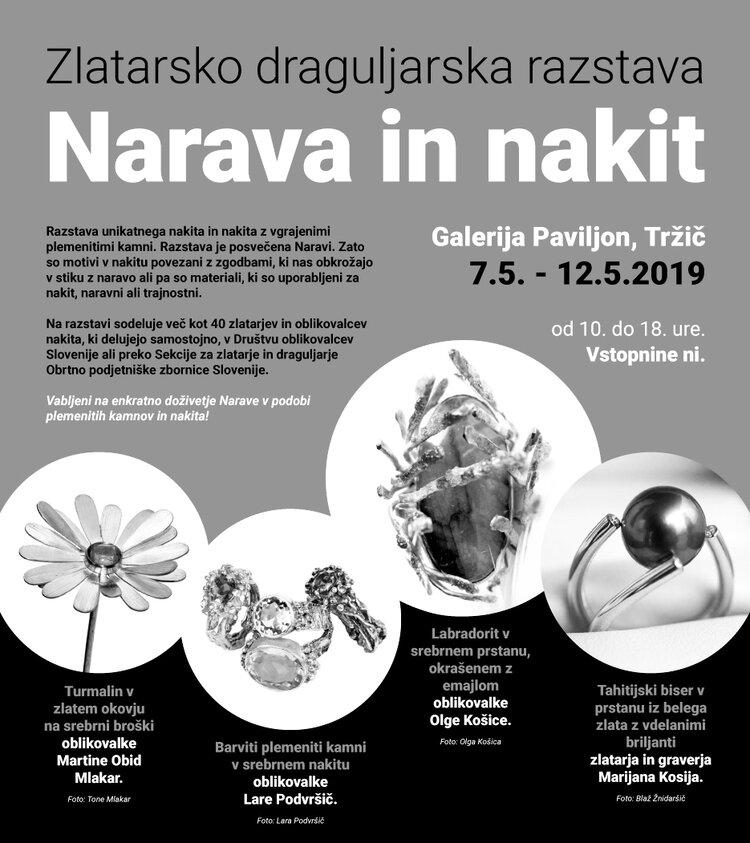 - NATURE & JEWELLERYSLOVENE GOLDSMITH AND JUWELIER GROUP EXHIBITIONTRŽIČ / SLOVENIA