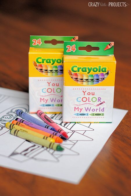 You color my world valentines card