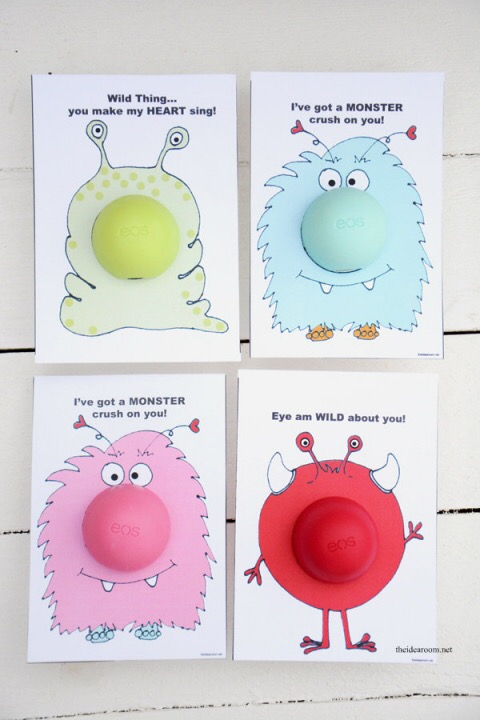 Monster Lip Balm Valentines