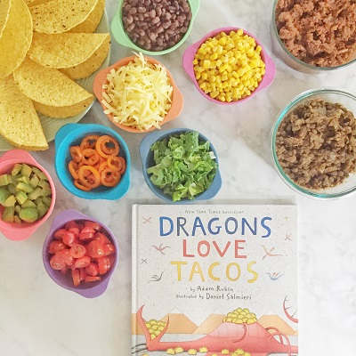 Dragons Love Tacos Taco Bar with Kids
