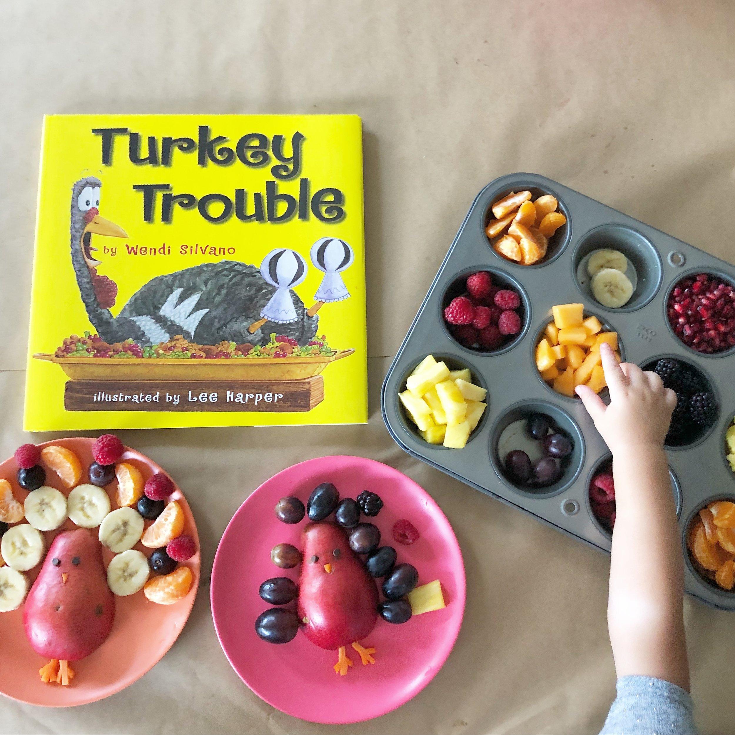 Turkey Trouble snacktivity for kids