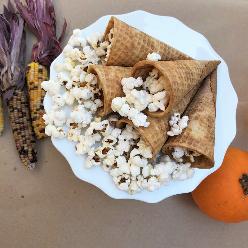 Popcorn Cornucopia for Friendsgiving or Thanksgiving