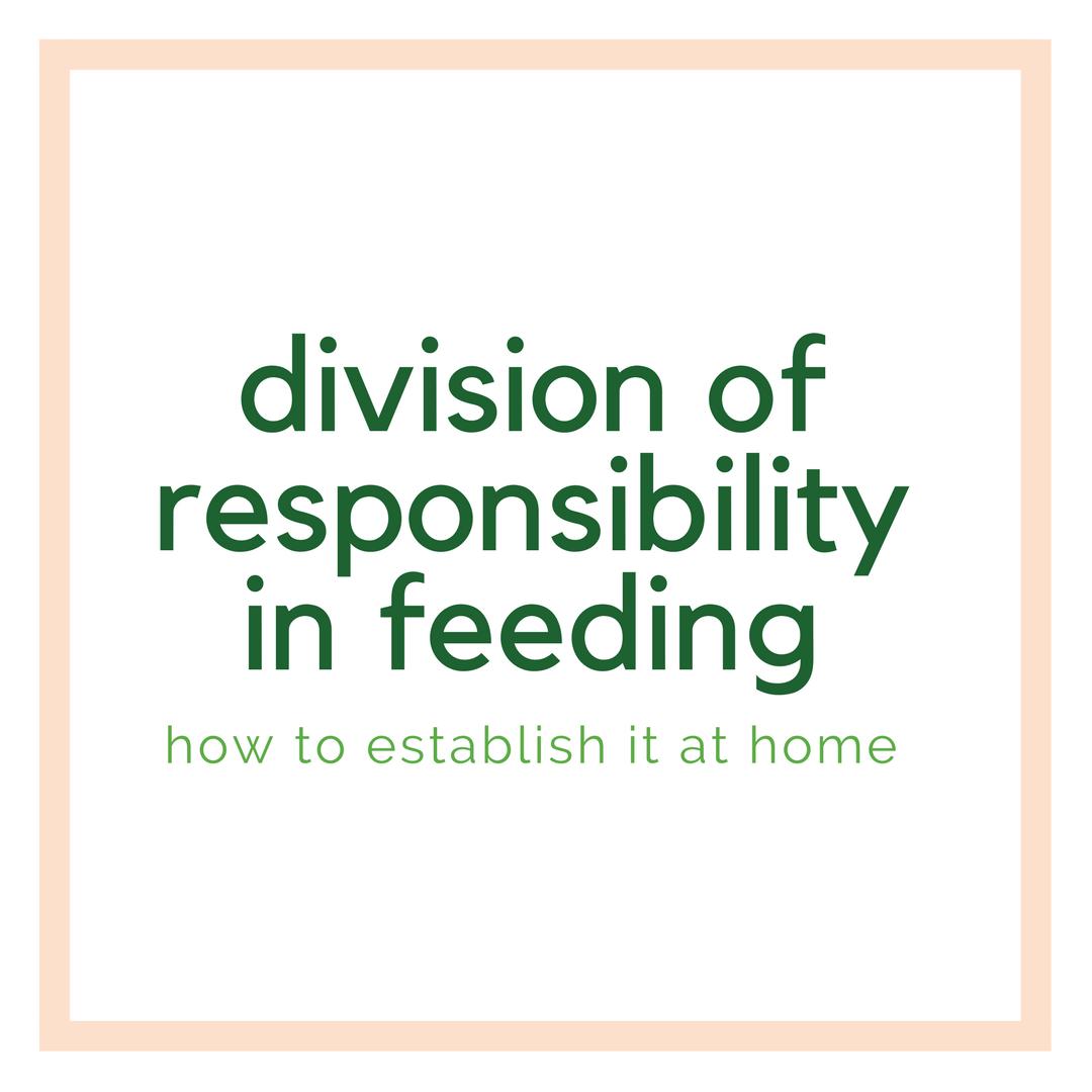 establishing the division of responsibility