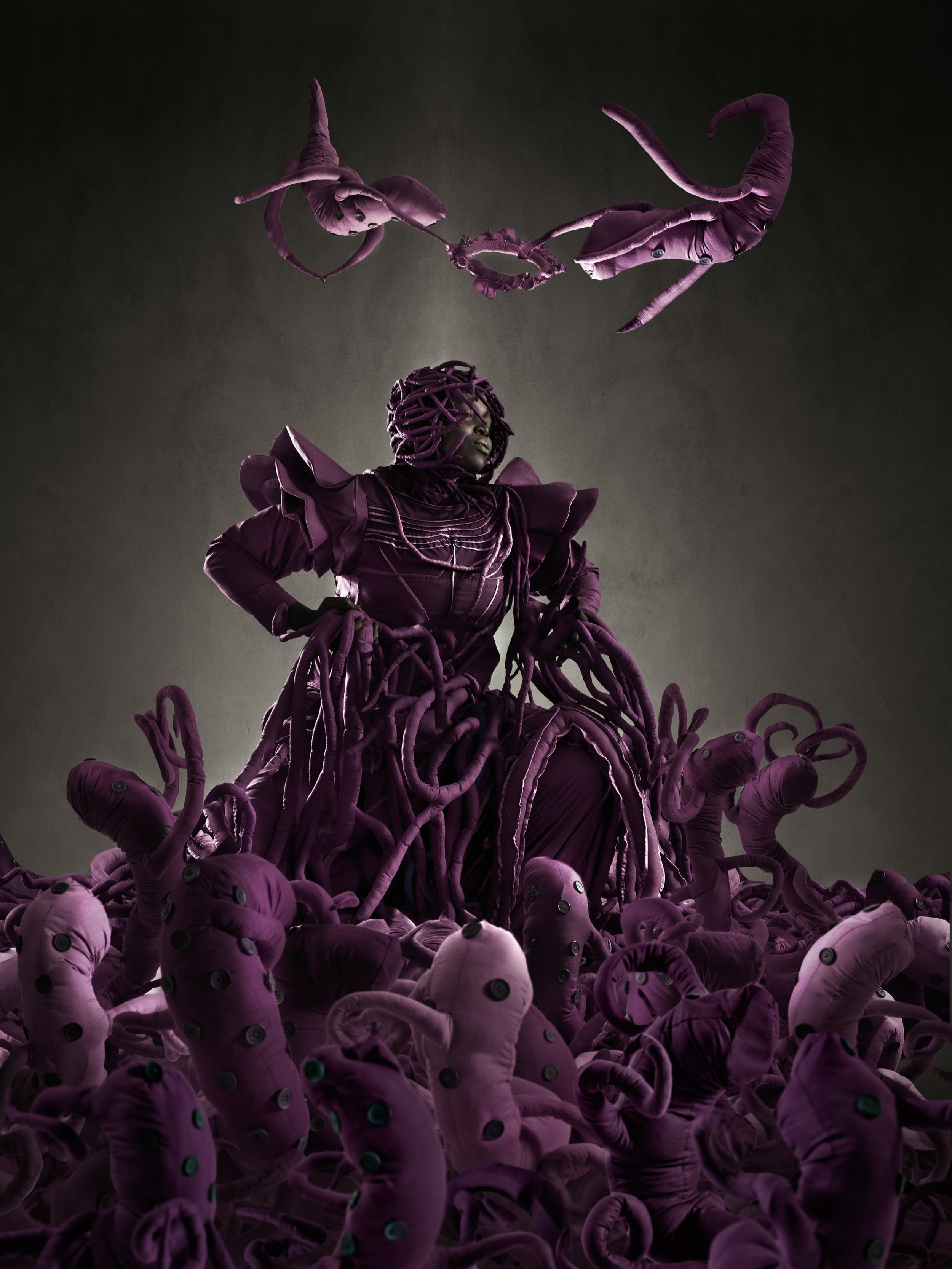 Image Credit : Mary Sibande, The Admir ation of the Purple Figure, 2013, Digital Archival Print 150x110 cm / 59.1x43.3 in. Gallery Momo/ Licensed by Gallery Momo, Cape Town, South Africa.