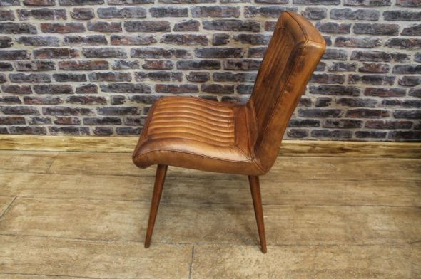 Vintage Style Leather Chairs Dining Urban