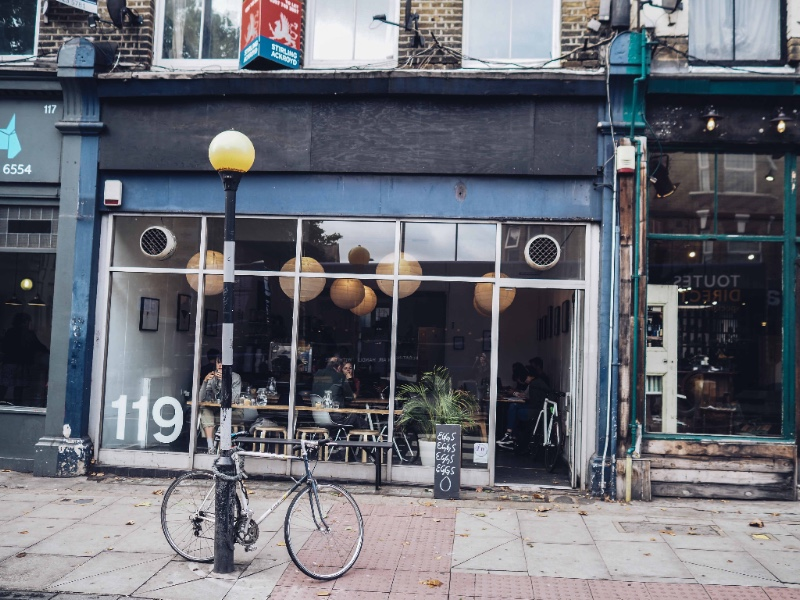 The East End of London is flourishing with cosy coffee corners I Photo by Julia