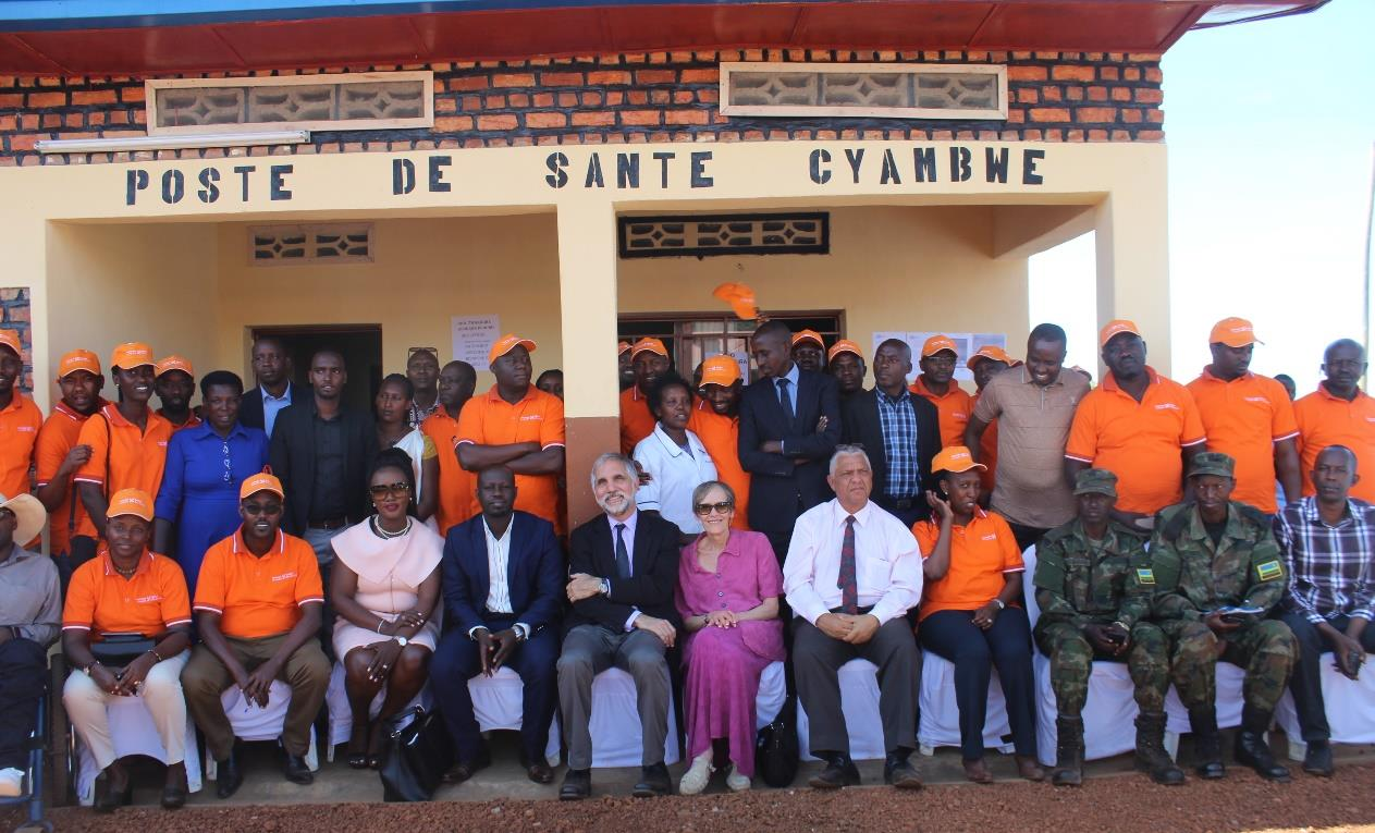 Local authorities and PIH team at Cyambwe Health post