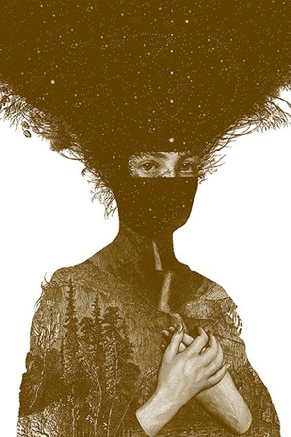 Dan Hillier,  Pachamama Sepia , 2014 Hand-pulled screen print on 300gsm Somerset soft-white smooth paper A/P limited edition of 100, 56 x 76cm