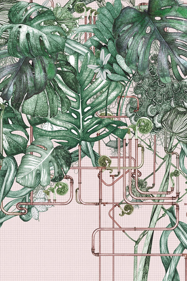 Lucille Clerc, 'Barbican Conservatory' Four later CMYK screen print Printed on Heritage white 310gsm paper Limited edition screen print of 40, 50 × 70 cm