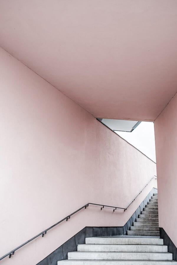Annaleena Leino Karlsson,  Pink Stairs , 2015  Printed on natural coloured matte 150 gram paper 50 x 70cm