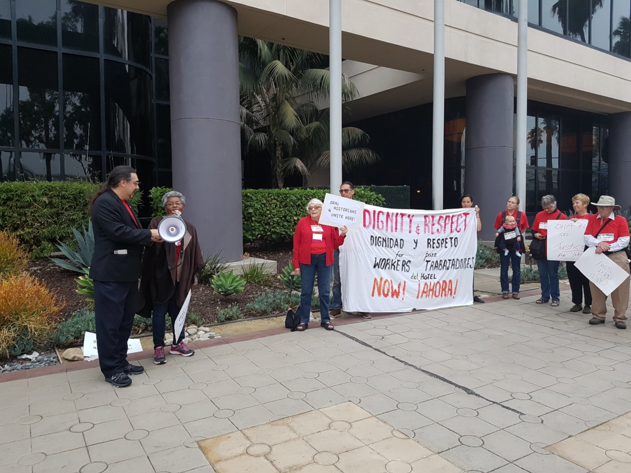Solidarity picket, rally, and speak out in front of Renaissance Hotel.