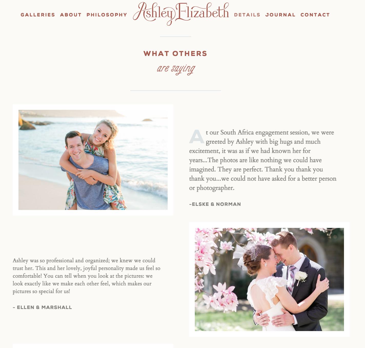 Virginia photographer rebranding website launch, Ashley Elizabeth