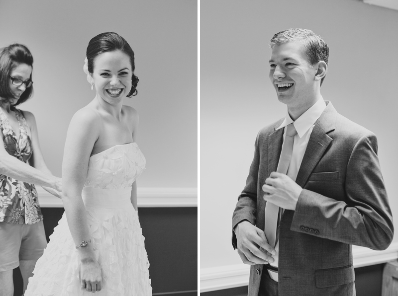 """I'll admit–I often get misty-eyed during a """"first look""""! Such a special moment when the groom turns around and sees his bride for the first time."""