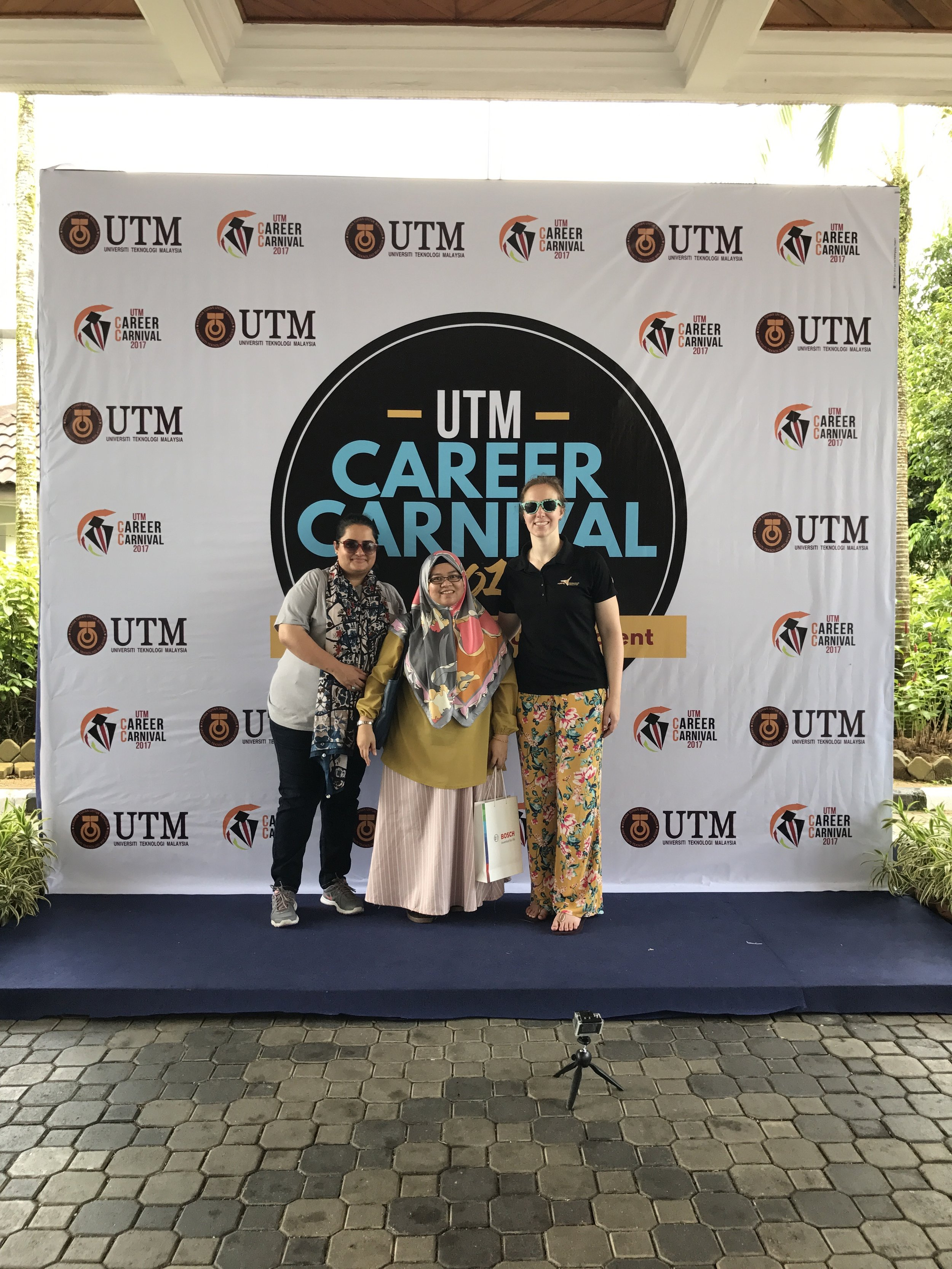 We visited the career carnival taking place at UTM while we were there for the project