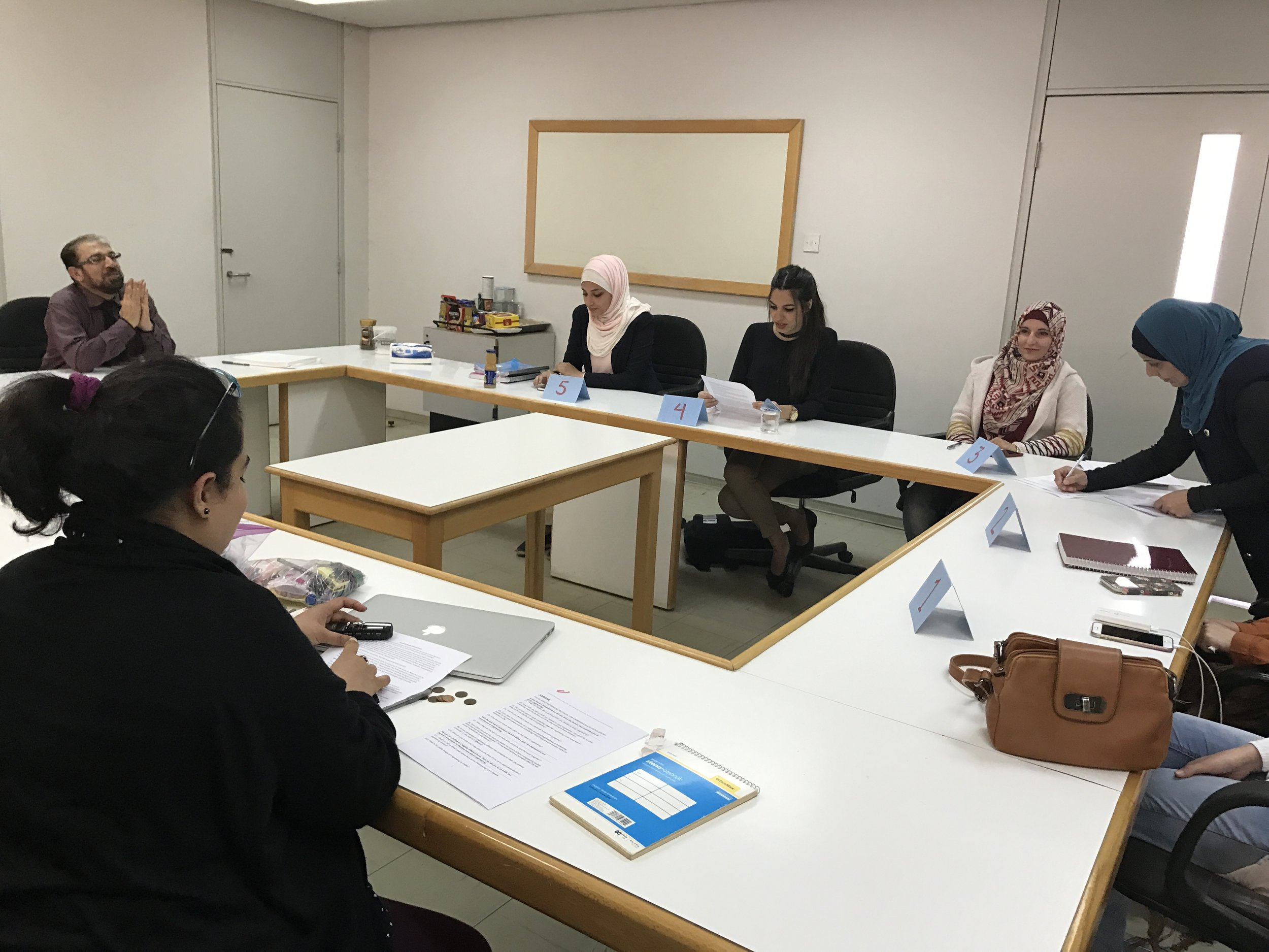Our first focus group with undergraduate engineering students at Jordan University of Science and Technology (JUST).
