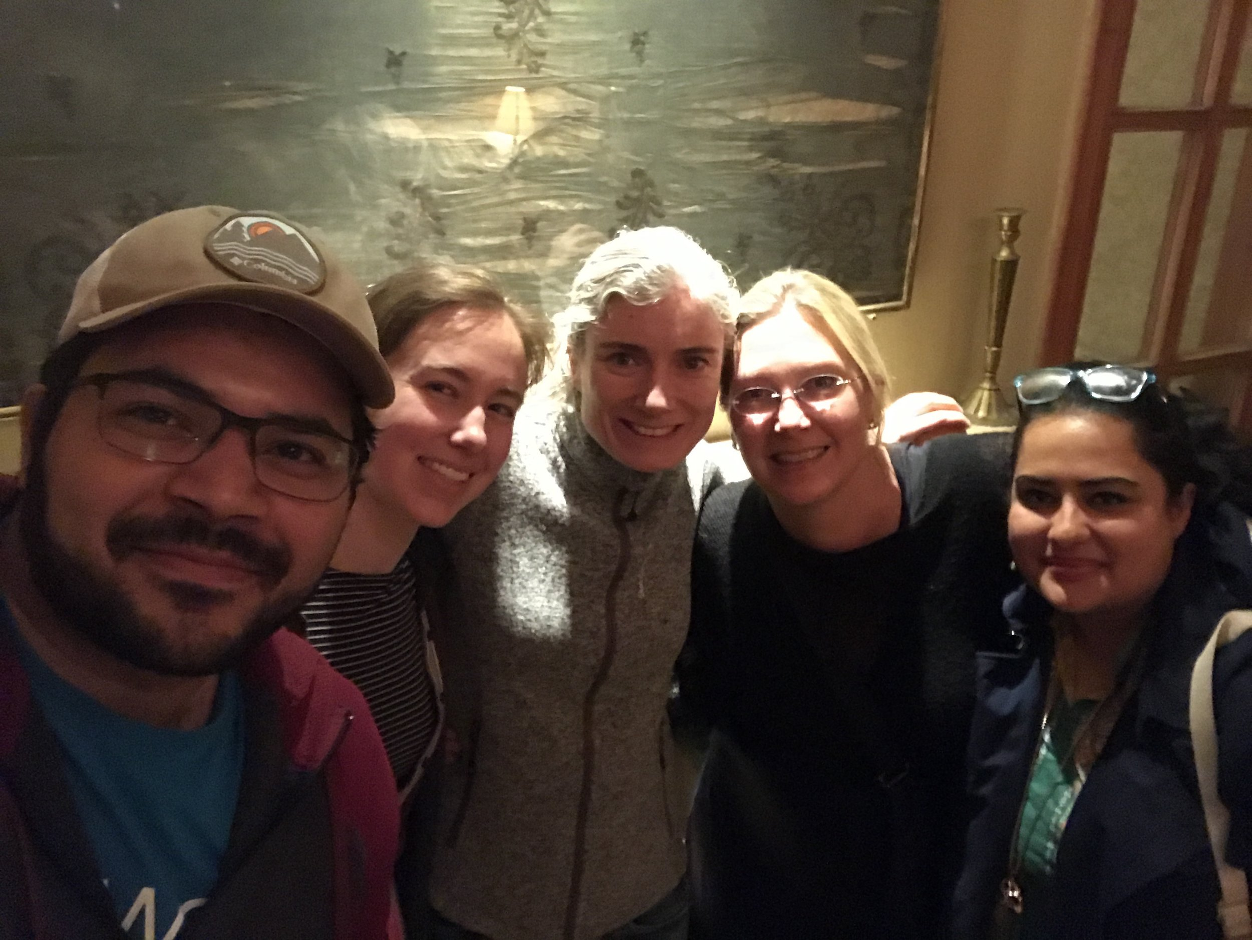 Two research teams (Women in Engineering and Azraq refugee camp) meet for dinner at a local restaurant in Amman.