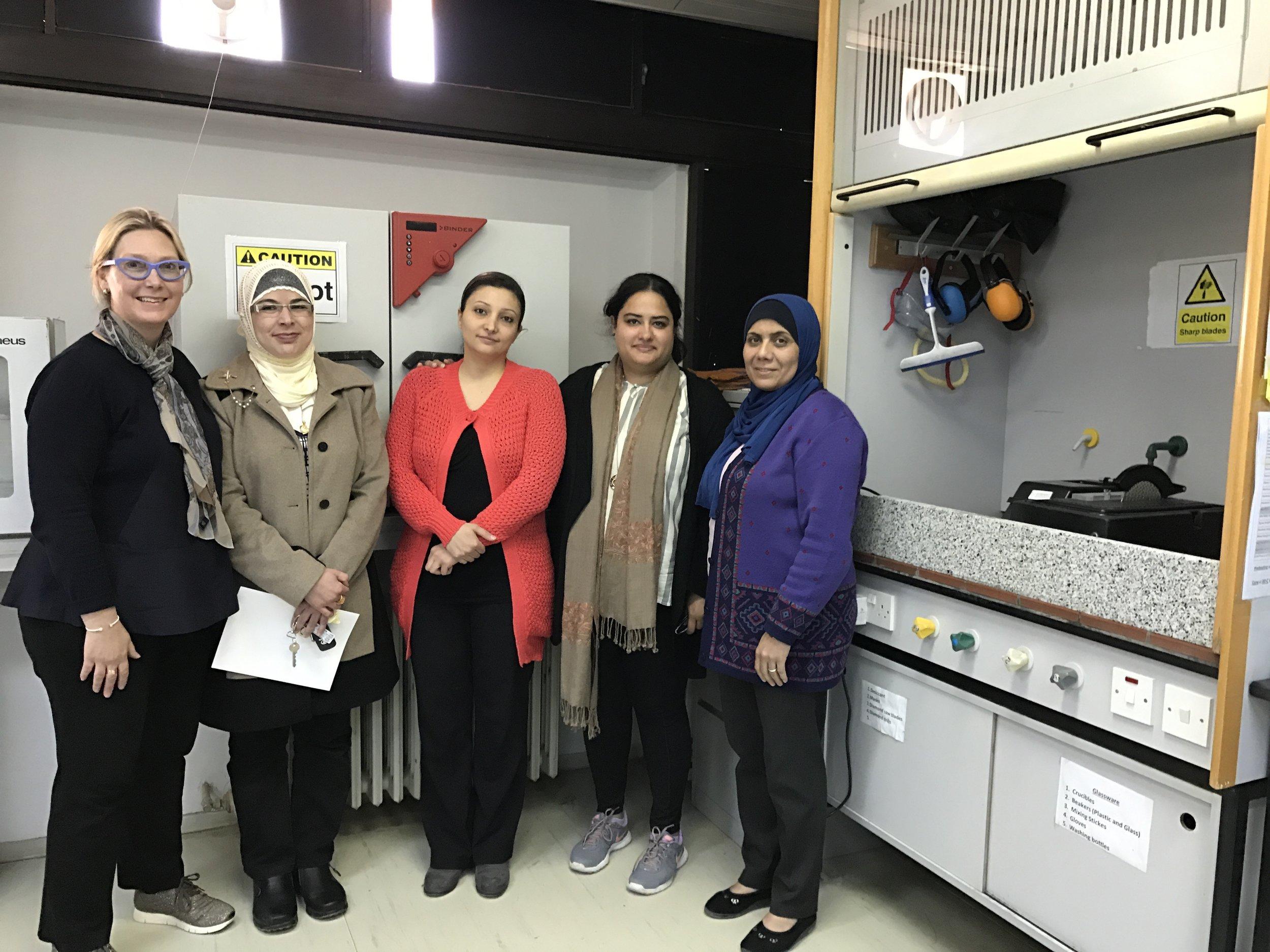 We met a woman faculty member in her lab, who is the only PhD in Aeronautical engineering in Jordan.