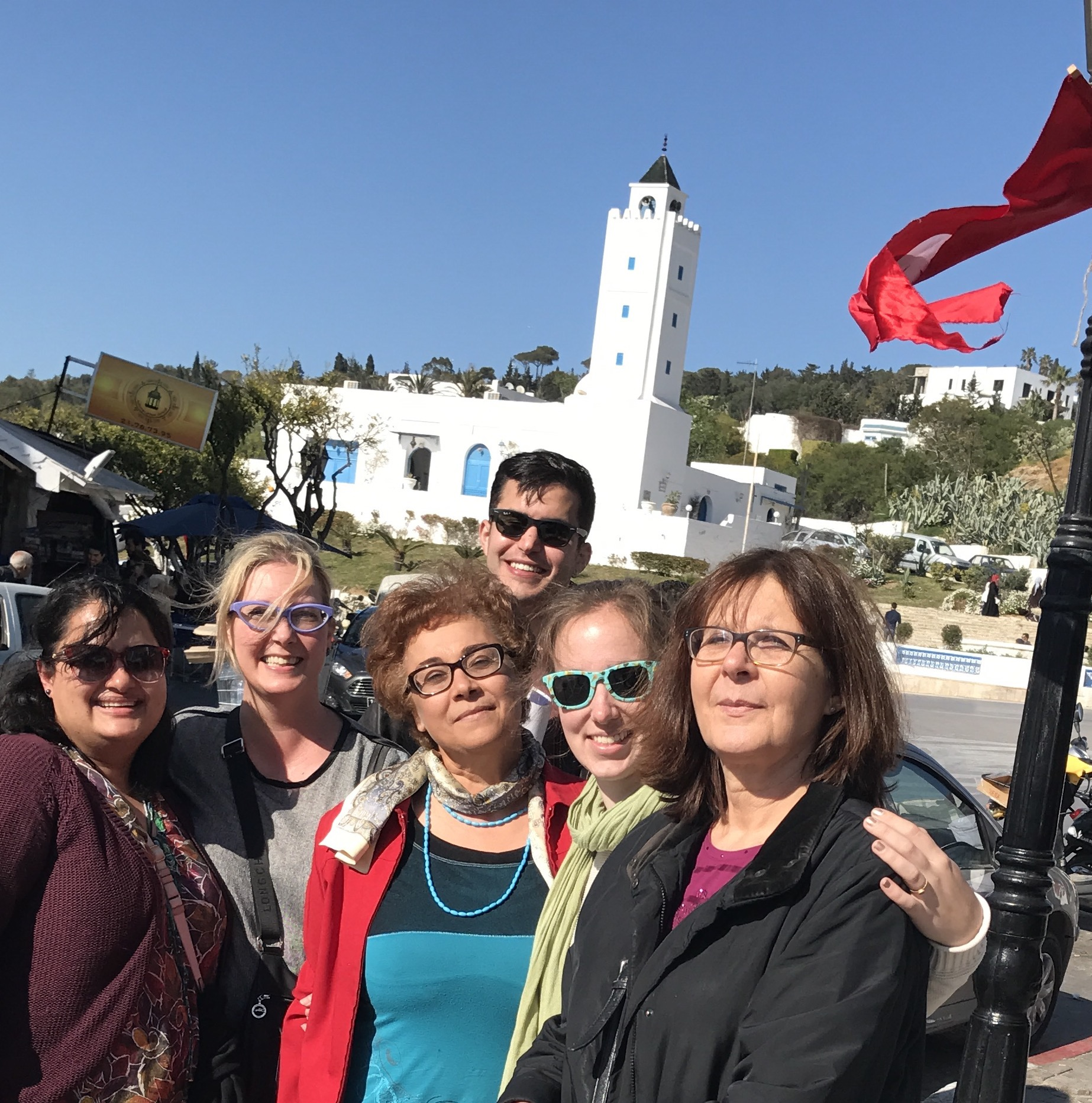 Our US and Tunisian team met up for lunch in Sidi Bou Said