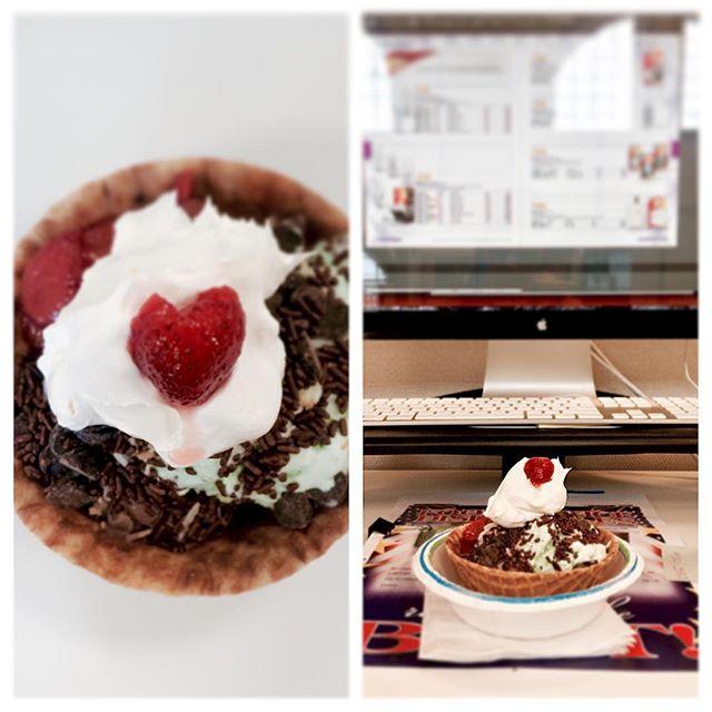 Ice cream day at the new gig. I can't complain it's pretty sweet! #icecream #icecreamsundae #officelife #design #indesign #catalog #catalogshoot #kinfolk #igersboston #officeantics