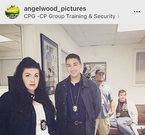 Acting on set today. They gave me a fake badge. My character seems a bit unimpressed. The cast keeps on telling me I should be on Orange is the New Black, quick someone get me an agent! Ha! Ha! #HollywoodEast #angelwoodpictures #CSI #BTS #MakingMovies #CreatingTheDream @angelwood_pictures