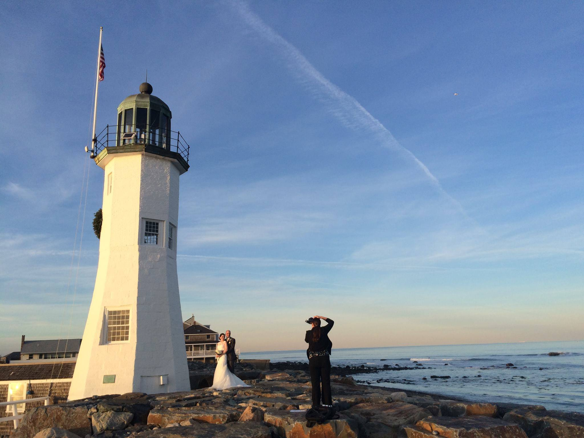 Shooting photography at The Old Scituate Lighthouse, Scituate Ma