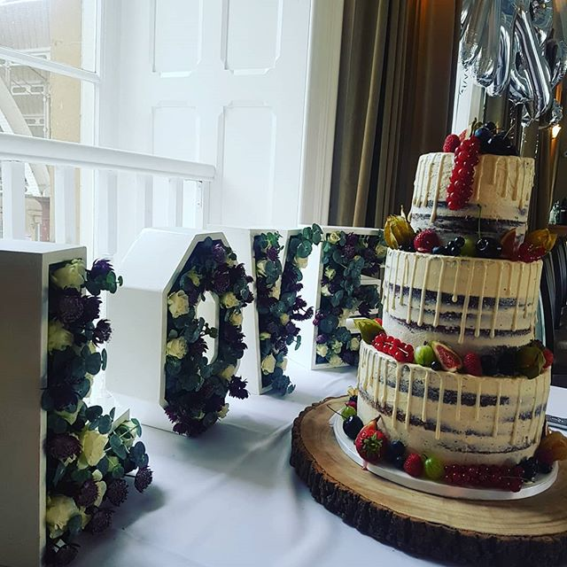Fantastic reception yesterday with these gorgeous floral letters by @weddingeventsprophire as a backdrop to the beautifully decorated cake #wednesday wedding #weddingseason #weddingsinbath #weddingvenue #bathvenue #mrandmrs