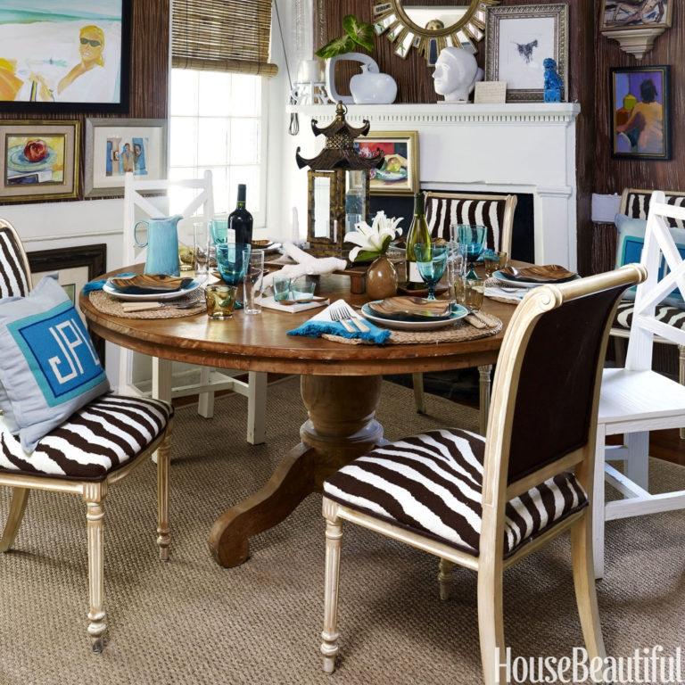Custom Zebra Print Needlepoint Dining Room Chair