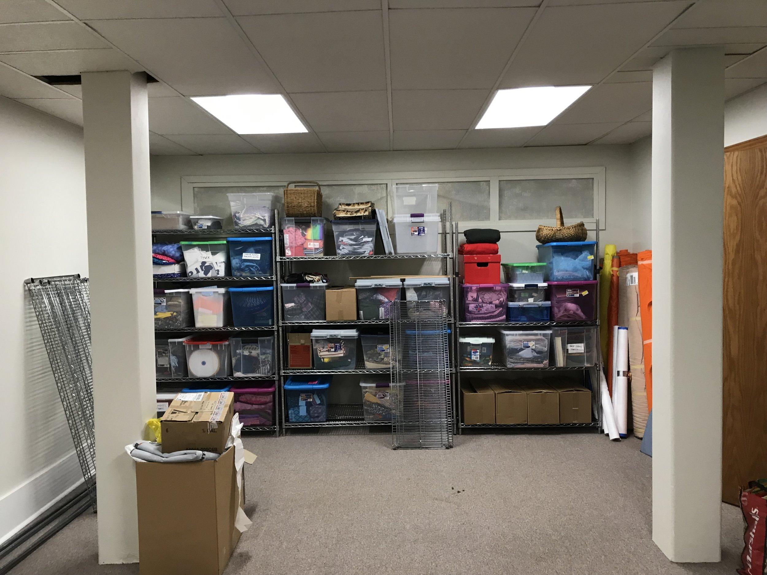 Shelves donated by Carpe Diem Coffee Roasters.