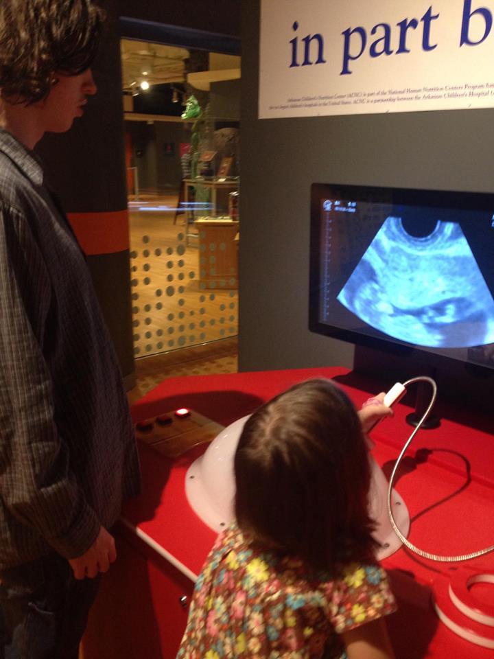 kheagan teaching Kolby to do an ultrasound