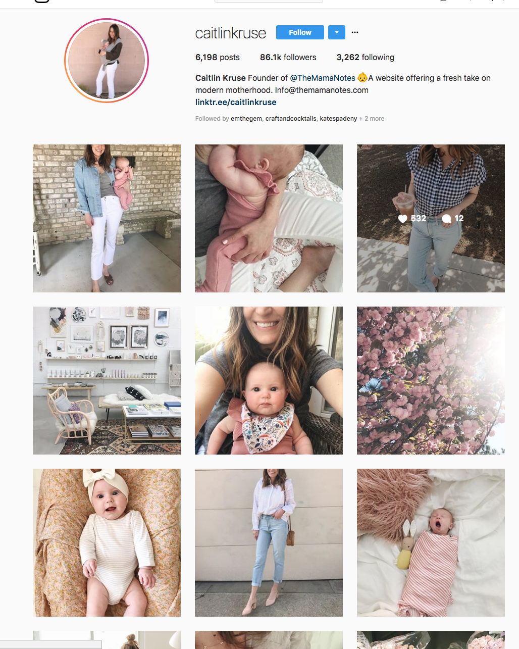 Although this lady posts all sorts of different things, they all have a consistent color scheme and light/dark balance.