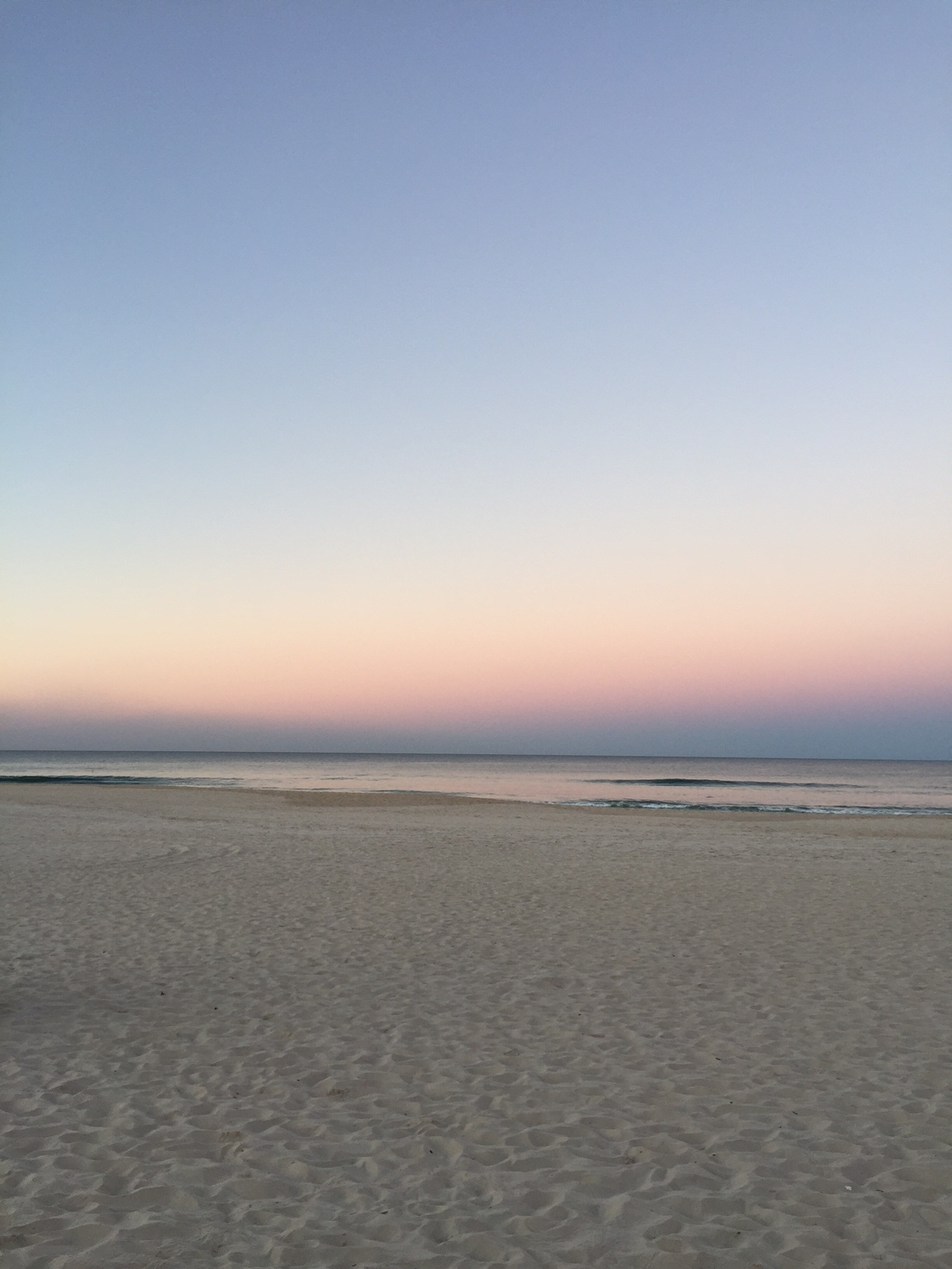 And ... touchdown. A Gold Coast sunset