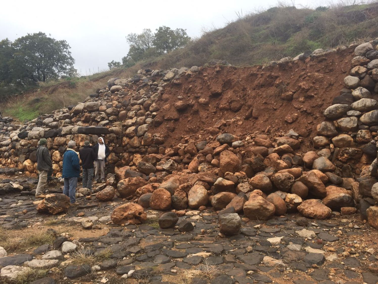 The Rains bring down part of Tel Dan - Credit: National Parks Authority