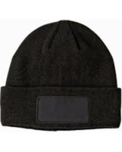 Acrylic double layered custom patch beanies printed in the USA.