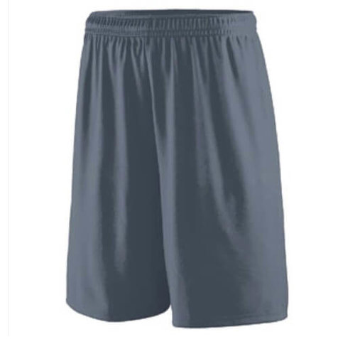 Custom athletic shorts with an elastic band and drawcord