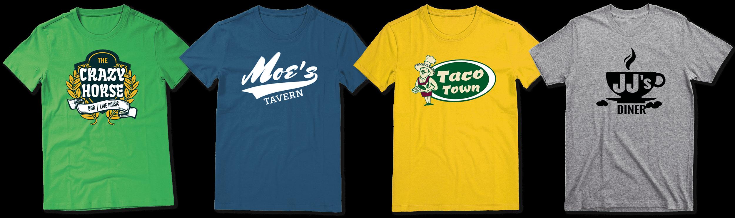 Custom restaurant shirt designs