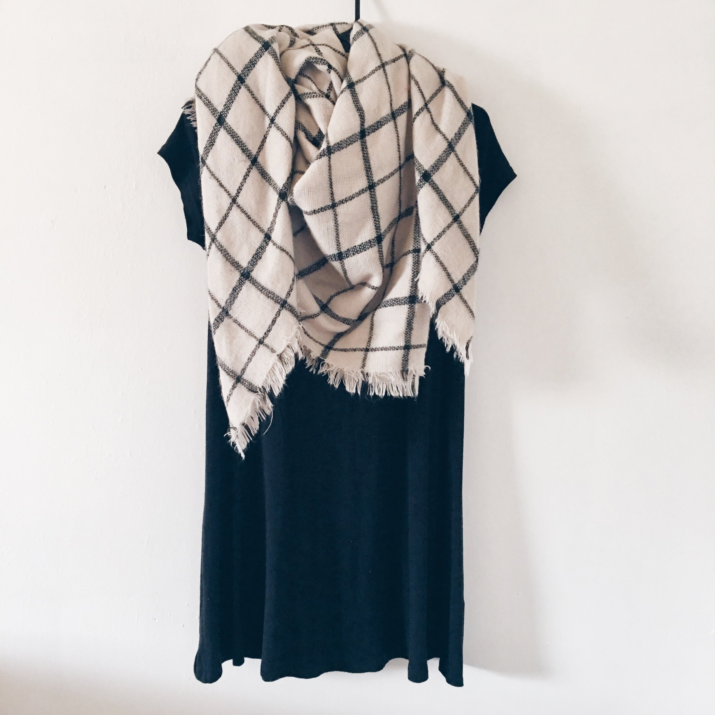 Blanket Scarf and LBD