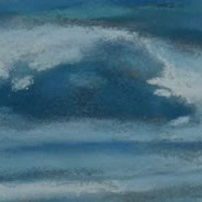 Blue Fog | Pastel on Copper, 8 x 9 inches, 17.25 x 18.5 inches framed