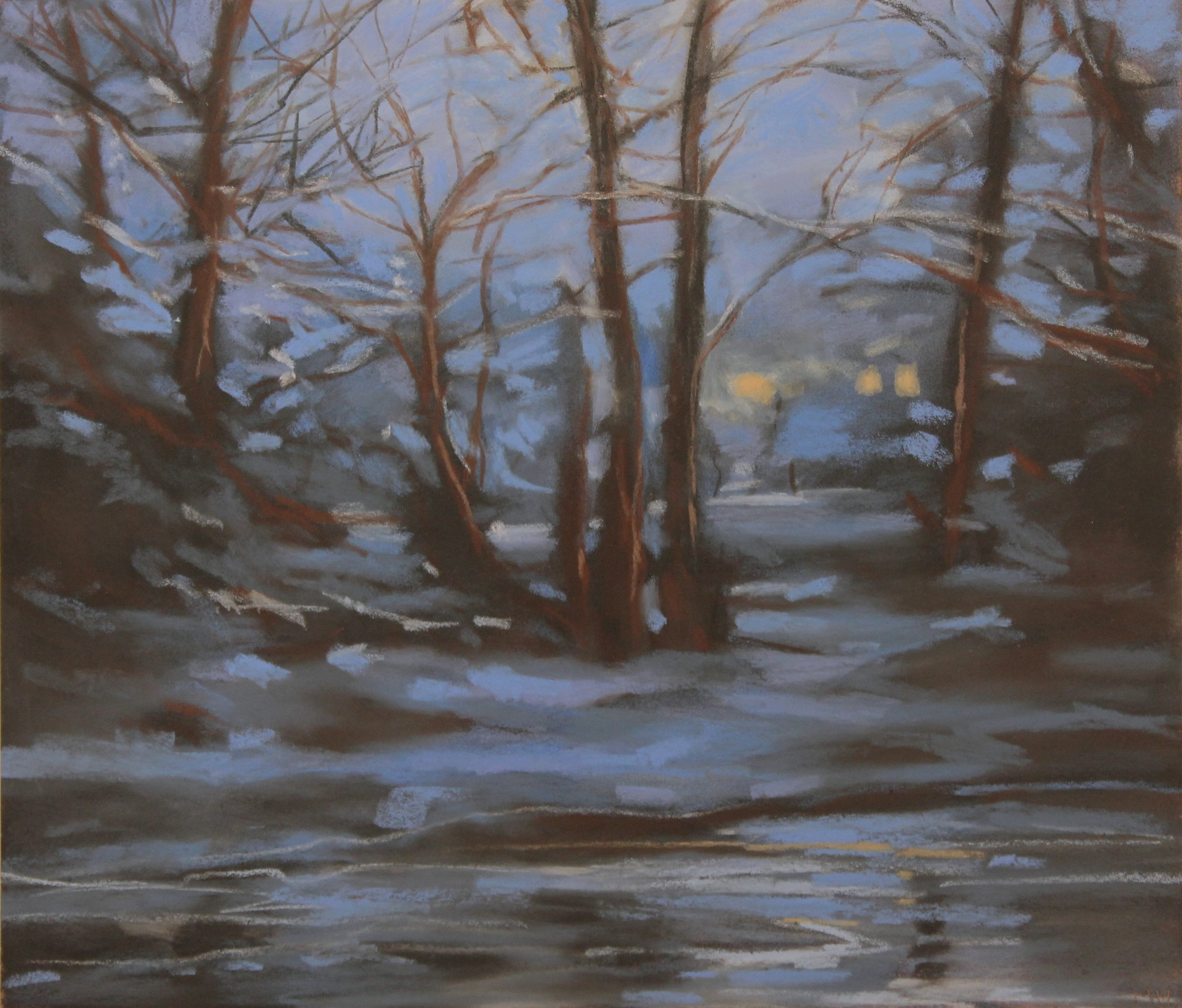 Home-In-Woods_Pastel on Copper_14x12.jpg