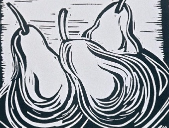 2 Pears | Block Print , 6 x 4 in | $150