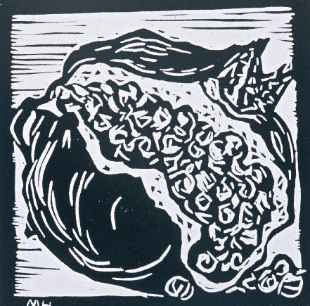 Pomegranate | Block Print, 6 x 6 in | $150