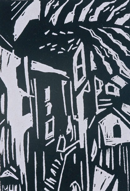 Italian Hill Town | Block Print, 4 x 6 in | $150