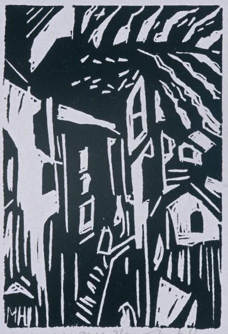 Italian Hill Town | Block Print, 4 x 6 in | $125