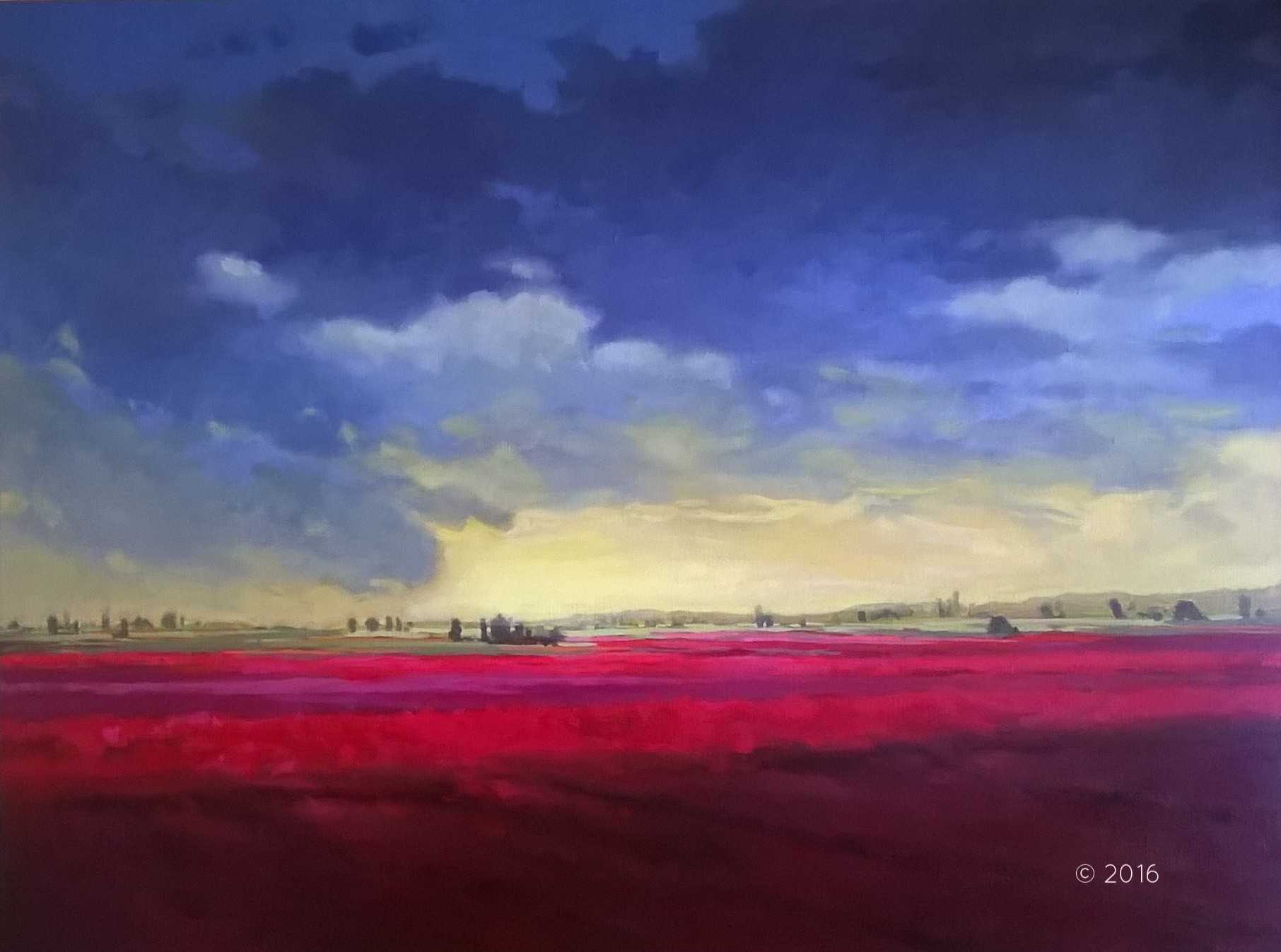 Skagit Valley | Acrylic on Canvas, 48 x 26 in