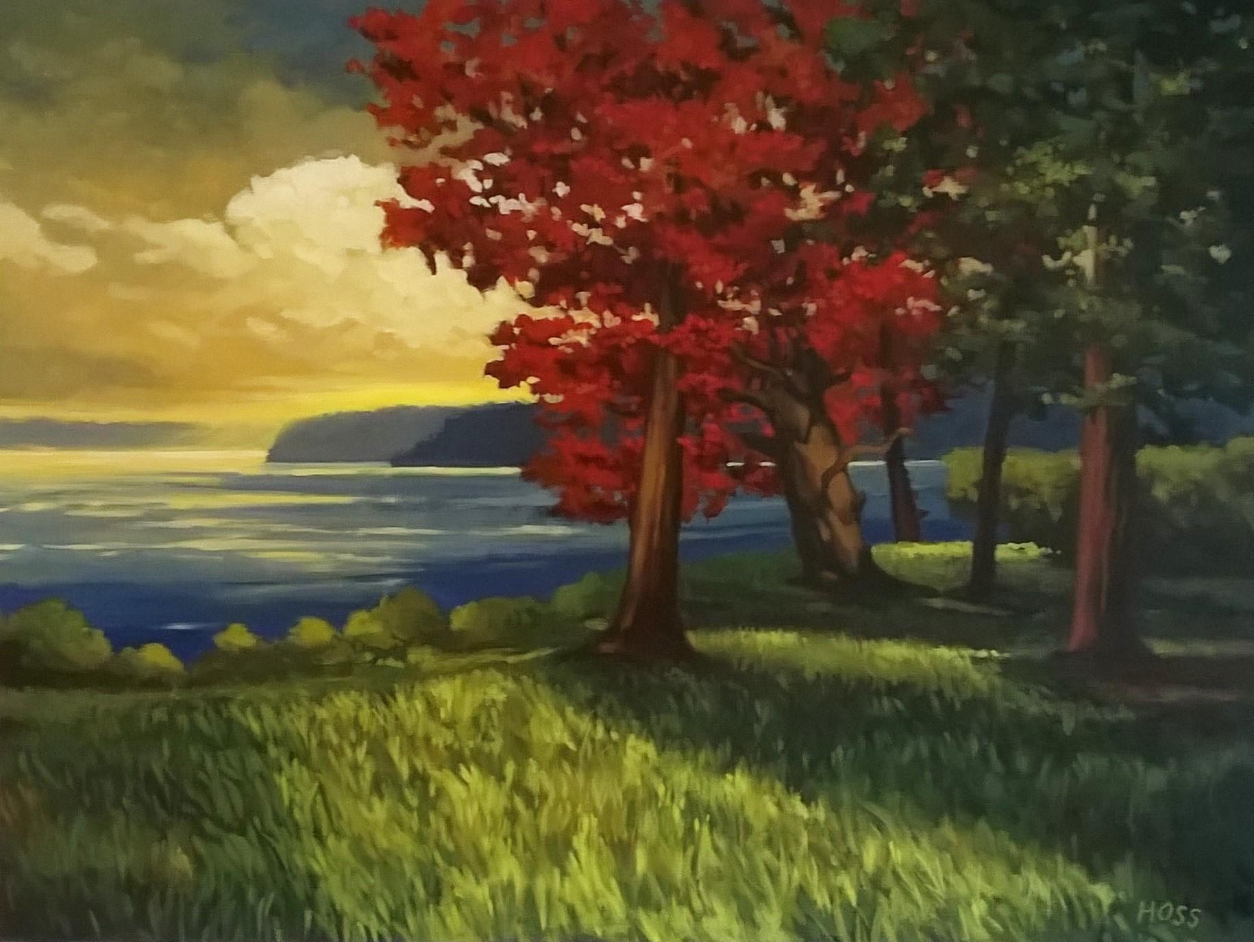 Island Light | Acrylic on Canvas, 48 x 36 in