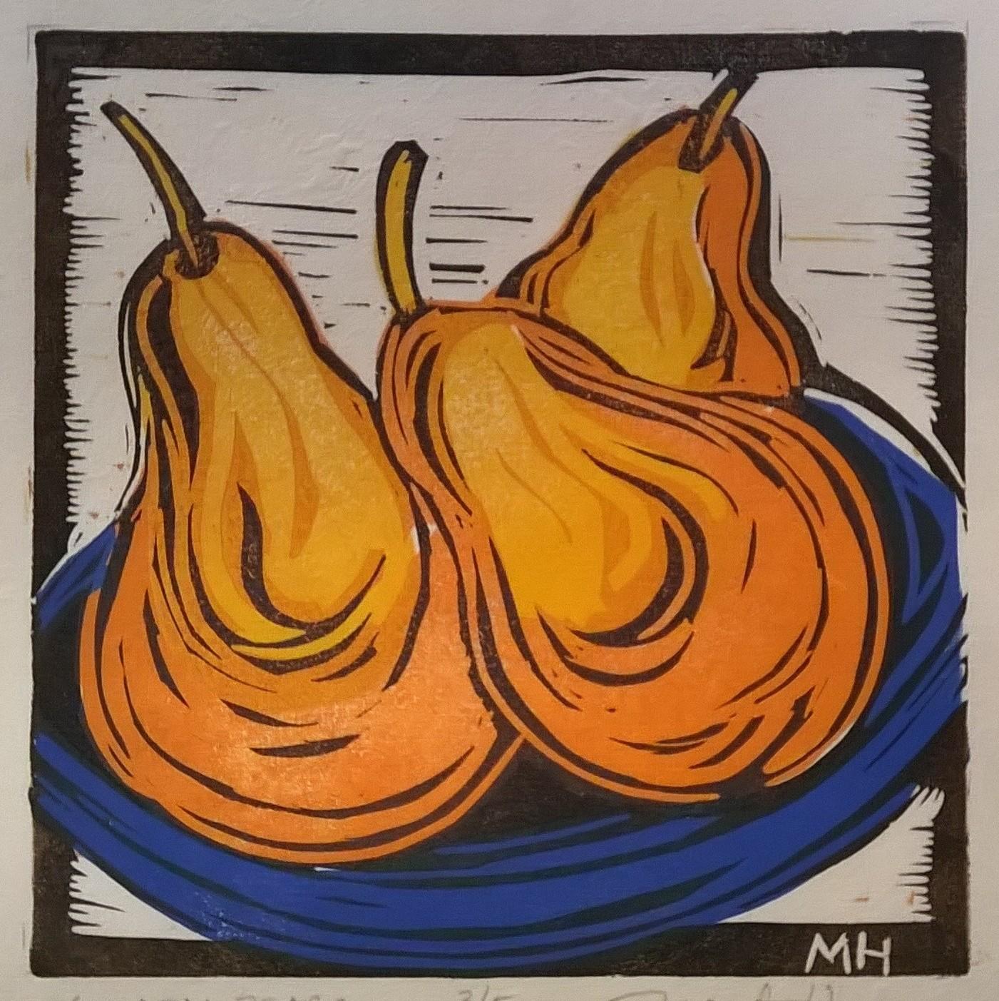 Golden Pears | Block Print, 6 x 6 in | $225