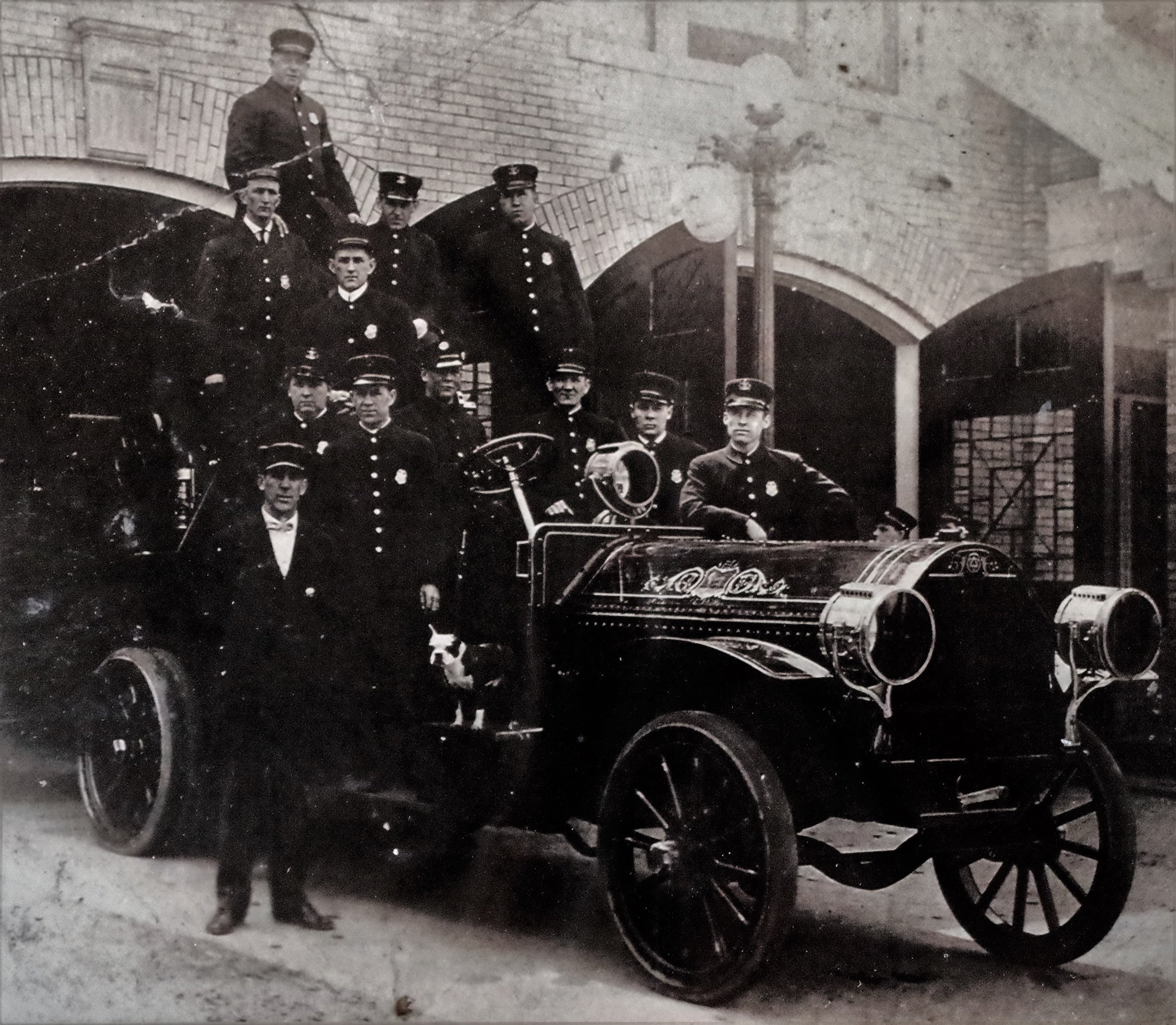 One of our earliest fire trucks.