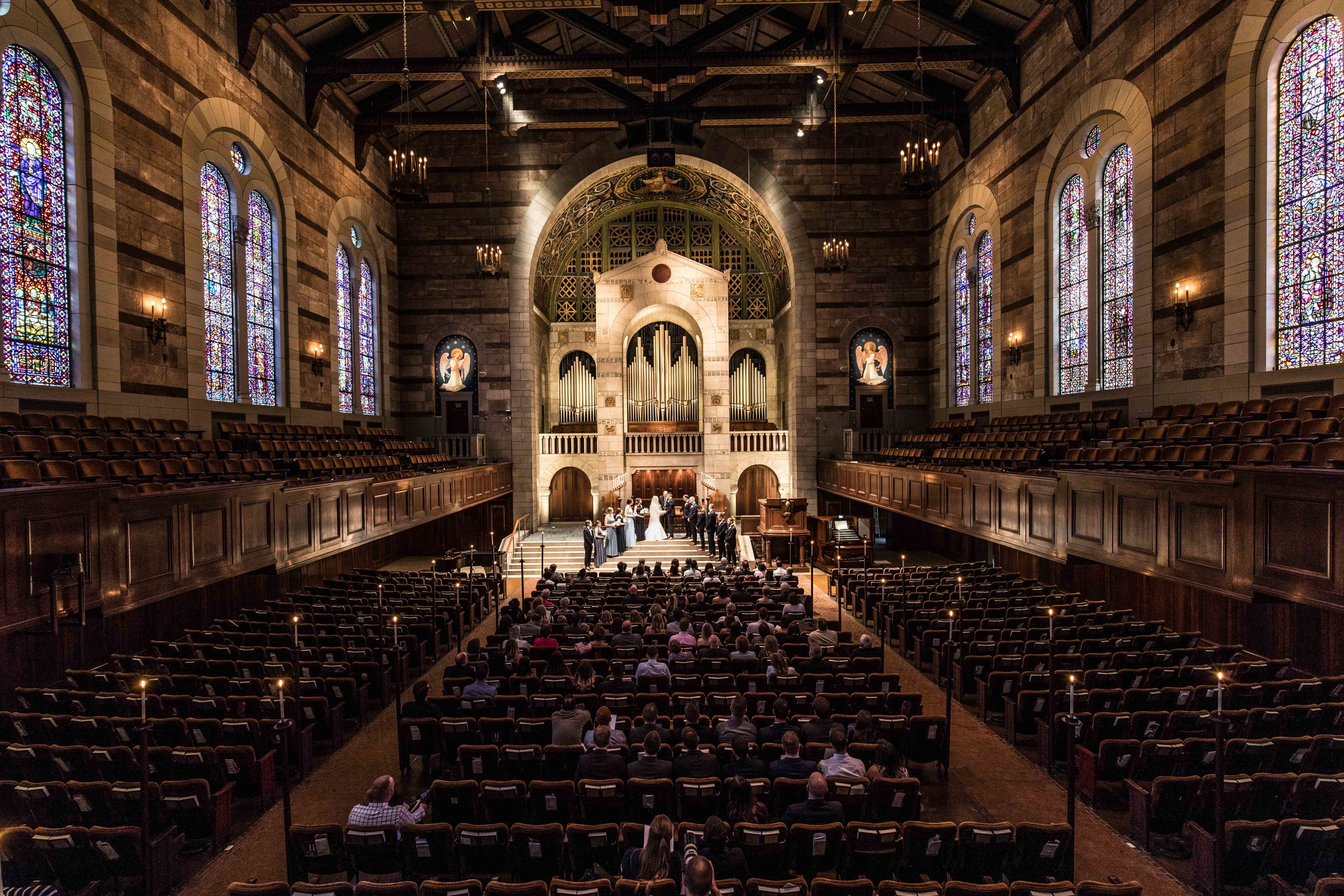 Grand Rapids cathedral church stained glass windows ceremony
