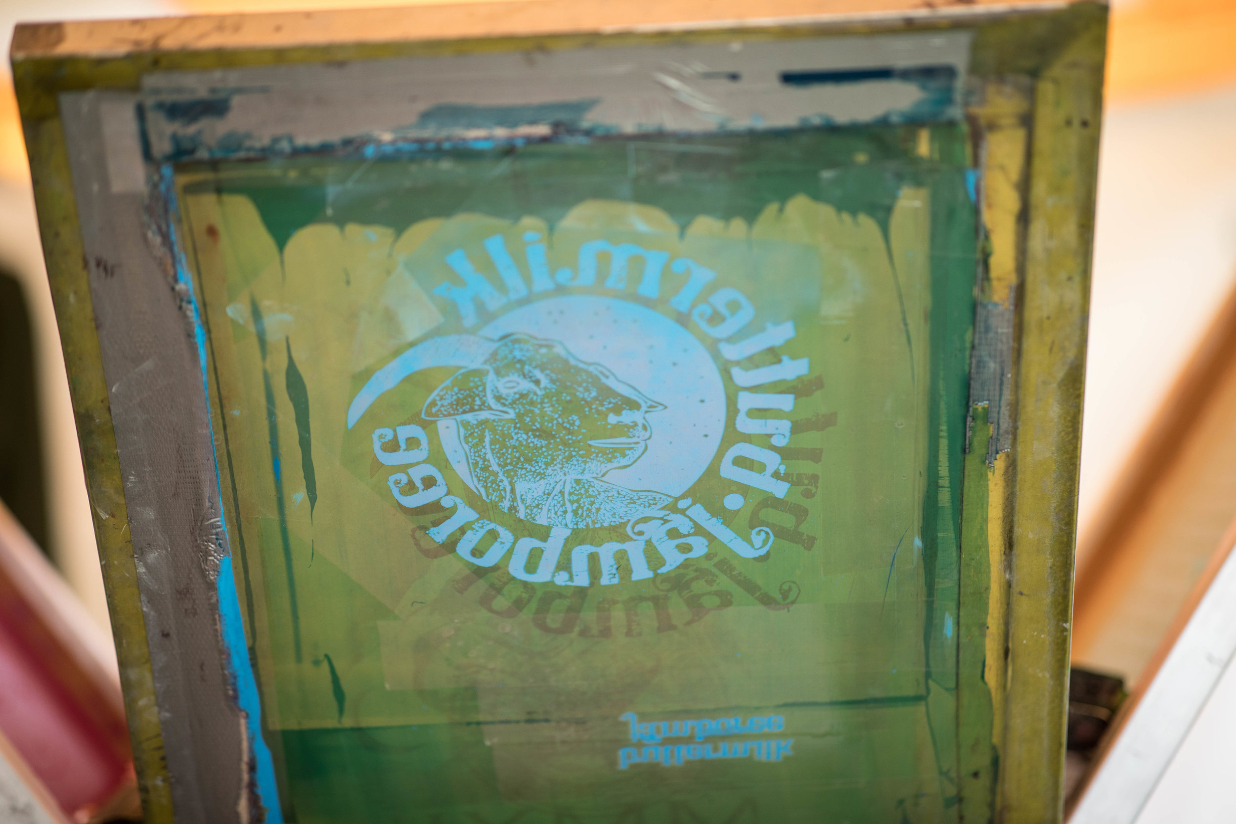a silkscreen of the Buttermilk Jamboree t shirt