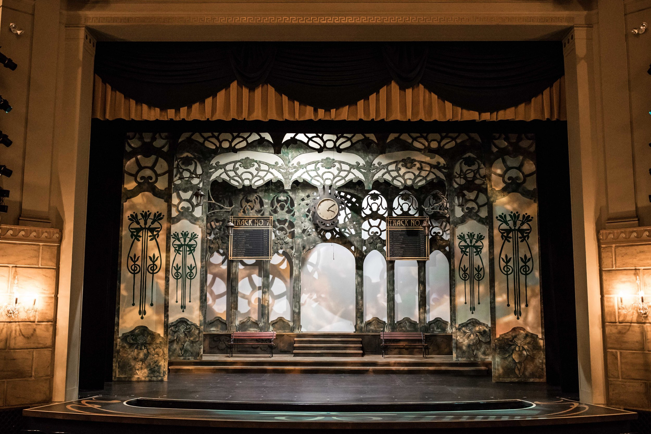 an amazing set built for Hello, Dolly! the musical at the Kalamazoo Civic Theatre